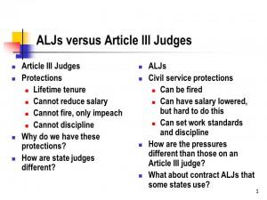 ALJs v. Article III Judges