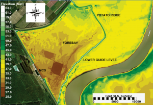 Image of a map of the Morganza spillway